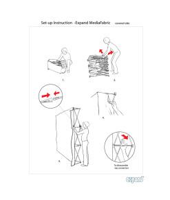 Setup manual bruksanvisning Expand Mediafabric med tryck framsida och kortsidor