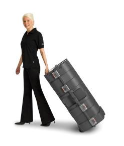 Expand Podiumcase stängt portabel transportbox med hjul och handtag