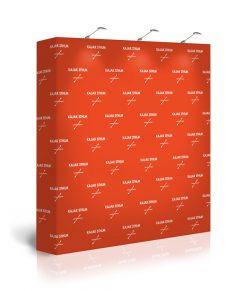 Portabel pressvägg / sponsorvägg med tryck. Köp Expolinc Soft Image 3x3 idag!