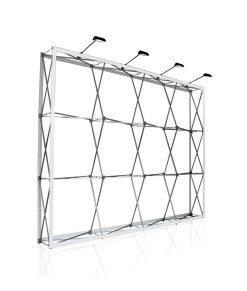Portabel vikbar / hopfällbar ställning / stativ till vägg med tryck. Köp W.Label tygvägg Standard 300 cm idag!