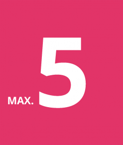 Max 5 stycken per kund