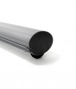 profil närbild kassett Spennare roll up s10 silver grå