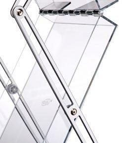 Hyllplan fack i plexi plexiglas. Storlek A4 stående. Köp brochyrställ Expolinc Brochure Stand Double idag!