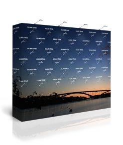 Sponsorvägg / pressvägg med tryck logotyper. Köp Expolinc Soft Image 4x3 idag!