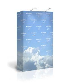 Liten portabel sponsorvägg / pressvägg med tryck. Köp Expolinc Soft Image 2x3 idag!