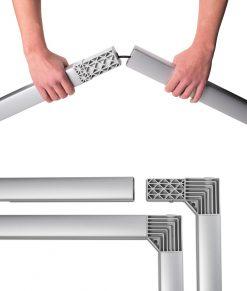 Enkelt att montera din mässvägg/montervägg Expand GrandFabric. Utan verktyg, klart på några minuter. Köp idag!