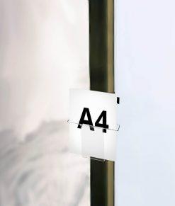 Expand GrandFabric broschyrhållare till mässvägg/montervägg/mässmonter. Broschyrfack/fack storlek A4 i stilren plexi/akryl. Köp idag!