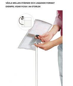 Infoställ/akrylställ med ficka i A3-storlek. Liggande/stående A3. För egen utskrift. Köp idag!