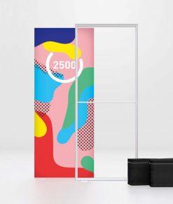 Pixlip GO Lightbox 100x250 cm. Portabel ljuslåda/ljusvägg med tryck. Enkel/dubbelsidig. Köp idag!