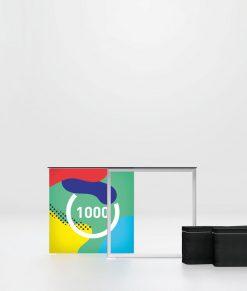 Pixlip Go Counter 100x100 cm. Bakbelyst disk/bord med tryck till mässa/event. Köp idag!